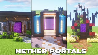 5 AWESOME Nether Portal Designs for Minecraft 1.16 [HOW TO BUILD]