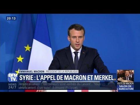 """Syrie: """"La France mettra toute la pression"""" à la Russie (c.-à-d. rien…) pour obtenir une trêve, prévient Macron"""