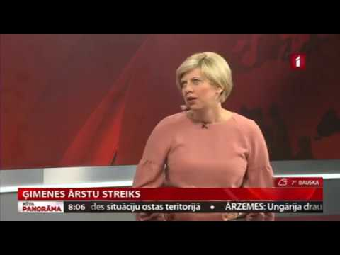 """Veselības ministres Andas Čakšas saruna LTV1 """"Rīta Panorāma"""""""