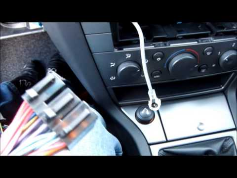 how to remove corsa c cd player