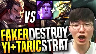 Video Faker Plays Darius Mid vs Master Yi & Taric Strategy! - SKT T1 Faker Picks Darius Mid! | SKT T1 MP3, 3GP, MP4, WEBM, AVI, FLV Agustus 2018
