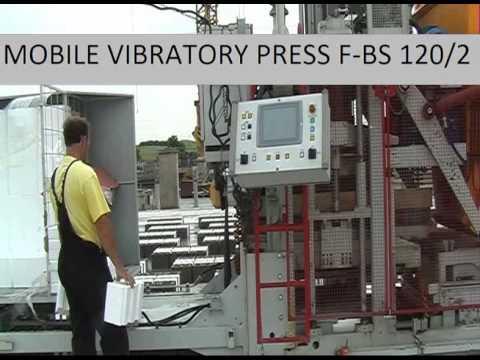 Automatický mobilní vibrační lis F-BS 120l2