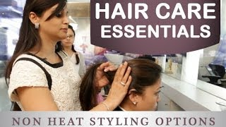 How to Style Your Hair Without Heat in Tamil