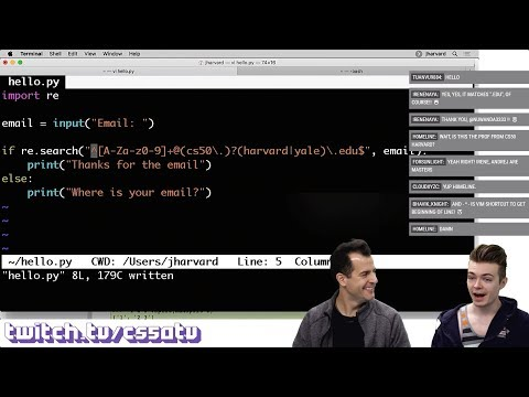 REGULAR EXPRESSIONS TUTORIAL - CS50 on Twitch, EP. 15