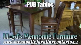 Mennonite Maple Pub Table and Chairs