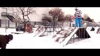 Kleine Snowskate Session in Gießen im Januar 2013.Gefällts euch? :-)