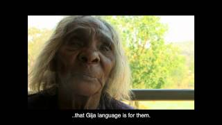 You gotta keep-em cause he's got culture in it from Ground Up - Peggy Patrick speaks about the importance of Gija language and its uncertain future. Filmed at Warmun Art Centre, Warmun Community April 2015 to promote the Gija Language and Culture Classes Pozible fundraising campaign. To donate go to pozi.be/gijalanguageclasses or www.groundupcommunity.org. For more information go to www.warmunartcentre.com.au