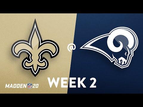 NFL Week 02 | New Orleans Saints @ Los Angeles Rams | Madden 20