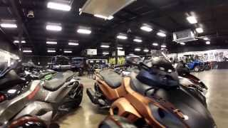 8. A few 2014 Spyder models at Louis Powersports