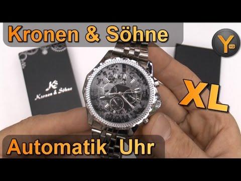 Kronen & Söhne Imperial XL Automatik Edelstahl Armbanduhr