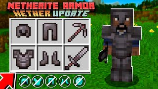 New NETHERITE Armor vs DIAMOND Armor! - Minecraft 1.16 Nether Update!