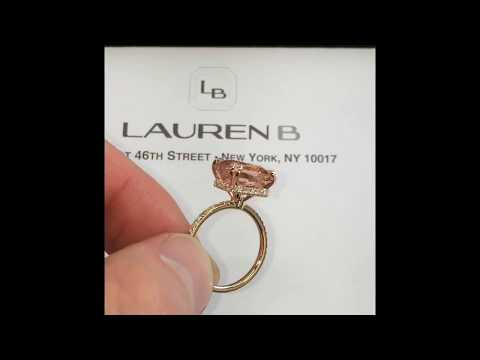 5+ carats Morganite Ring in RS-63 Rose Gold Design