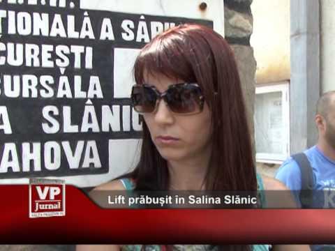 Lift prăbușit în Salina Slănic