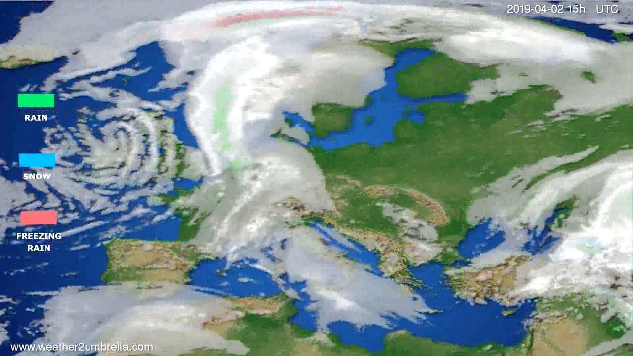 Precipitation forecast Europe 2019-03-31