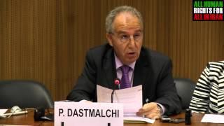 سخنرانی پرویز دستمالچی در ژنو در باره تروریسم حکومتی جمهوری اسلامی ایران حتما ببینید
