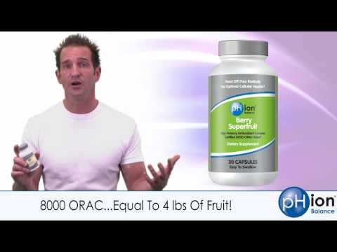 Antioxidant Supplement - pHion Berry Superfuit - 8000 ORAC - Juicy Antioxidants