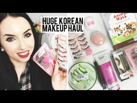 HUGE KOREAN MAKEUP & SKINCARE HAUL   YesStyle