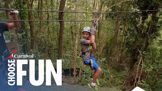Enjoy a tropical forest reserve in Puerto Rico while soaring down an exhilarating zipline and taking in the amazing views this ...