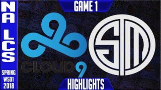 Video C9 vs TSM Highlights | NA LCS Week 5 Spring 2018 W5D1 | Cloud 9 vs Team Solomid Highlights MP3, 3GP, MP4, WEBM, AVI, FLV Juni 2018