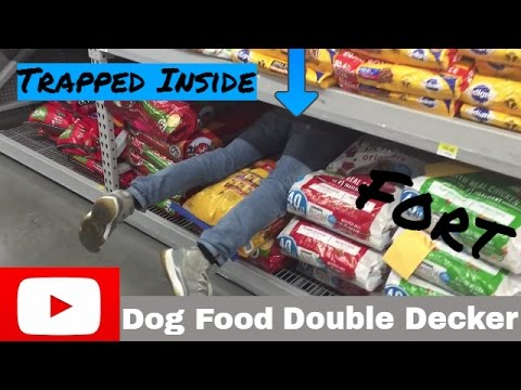 TRAPPED INSIDE A DOUBLE DECKER DOG FOOD FORT!!! GOT CAUGHT WORKERS SAW US!! FIRST EVER DOUBLE DECKER