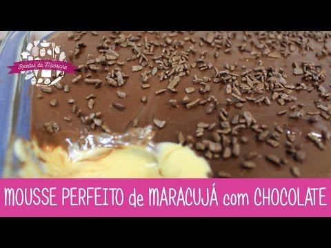 MOUSSE PERFEITO de MARACUJÁ com CHOCOLATE - Episódio 171 - Receitas da Mussinha