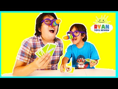 Ryan plays Are you a good liar with Fibber Board Games for kids (видео)
