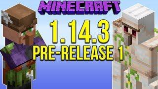 Minecraft 1.14.3 Pre-Release 1 Iron Golem Farm, Villager Crop Farm Balancing!