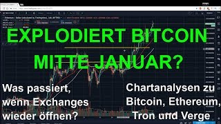 EXPLODIERT BITCOIN MITTE JANUAR? Marktübersicht und Analyse zu Bitcoin, Ethereum, Tron und Verge