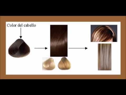 Teñir el cabello con tinte color marrón y hacer mechas rubias claras en un solo paso