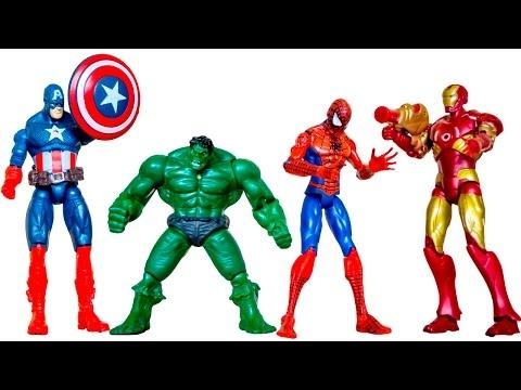 СуперГерои Марвел. Человек Паук. Капитан Америка. Железный Человек. Халк. Седа ТВ