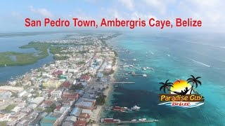 San Pedro Belize  City new picture : San Pedro Town, Ambergris Caye, Belize 4K Drone Footage 2016 - Awesome