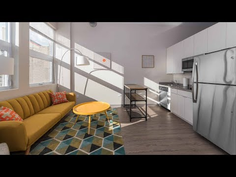 A sunny 2-bedroom, 2-bath model at the South Loop's new 21st Street Lofts