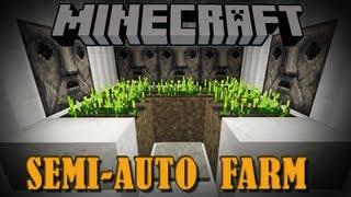 Minecraft Wheat Carrot&Potato Farm [Semi-Automatic]