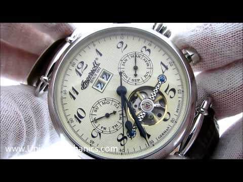 Ingersoll Mens Automatic Watch IN1312CR Walldorf Cream Dial Stainless Steel