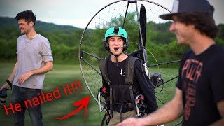 Video 16 Year Old Flies A Paramotor For The First Time! MP3, 3GP, MP4, WEBM, AVI, FLV Oktober 2018