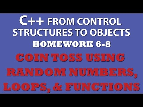 C++ Simulating Coin Toss (Ex 6-8) With C++ Functions and Loops