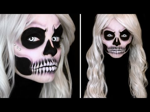 glam skull makeup tutorial spooktober watch the video. Black Bedroom Furniture Sets. Home Design Ideas