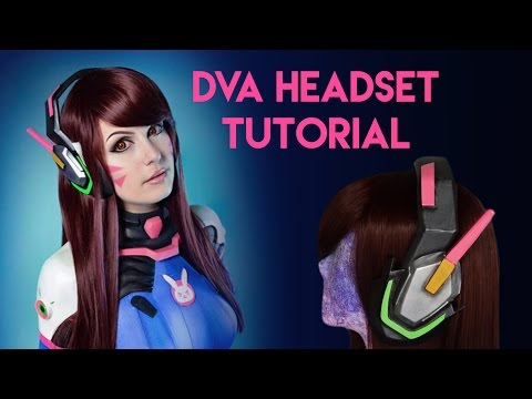 D.Va Cosplay Headset Tutorial - EVA Foam