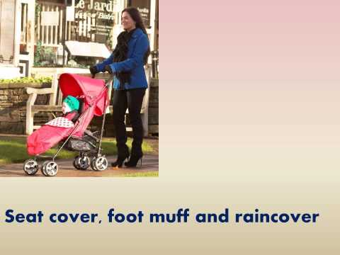 Babyway Caspian Stroller with Footmuff and Raincover Red