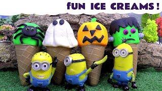 Funny Spooky Ice Creams