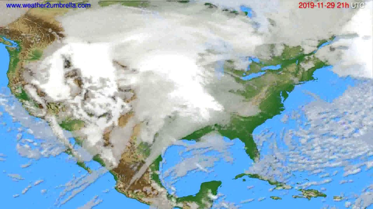 Cloud forecast USA & Canada // modelrun: 00h UTC 2019-11-28