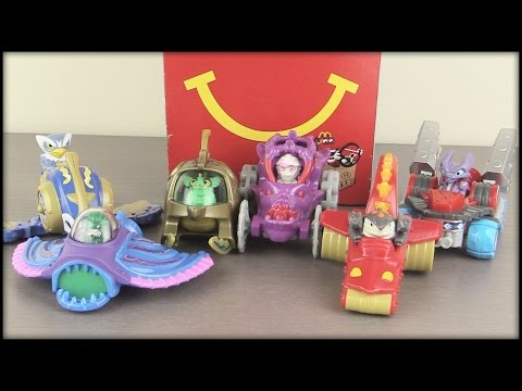 NEW! SKYLANDERS Superchargers Happy Meal Toys Unboxing!