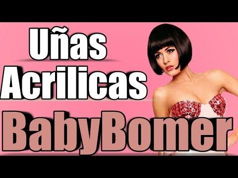 Uñas acrilicas - UÑAS BABYBOMER FACILES