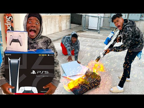 DESTROYING MY FRIENDS PS5!!! (EXTREME)