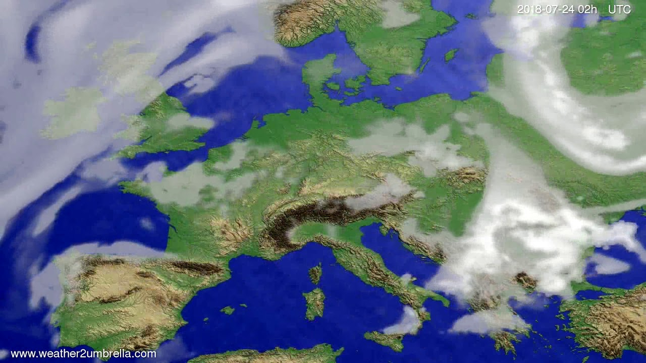Cloud forecast Europe 2018-07-20