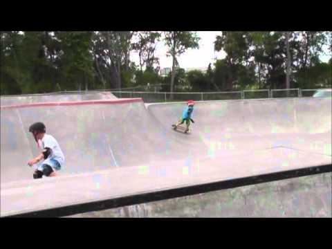 New Smyrna Beach Skate Park - Jonathan Wallhauser - Carver Skateboard Ripping