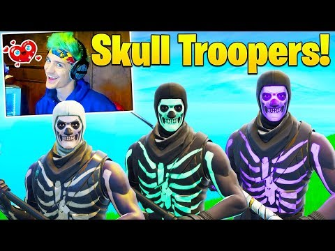 Ninja Reacts to NEW Skull Trooper Styles! SHOCKED at SMART Pro Plays! (Twitch Moments Reaction)