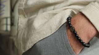 Sem Lewis Piccadilly South Kensinton bead bracelet black (8 mm bead)