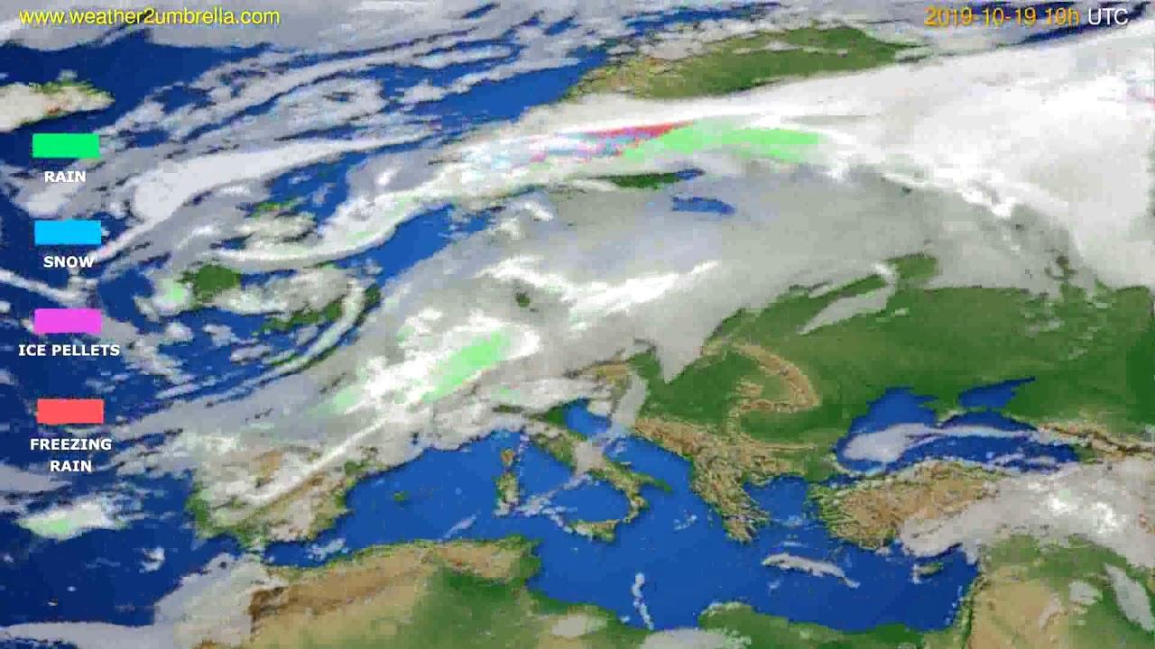Precipitation forecast Europe // modelrun: 00h UTC 2019-10-17