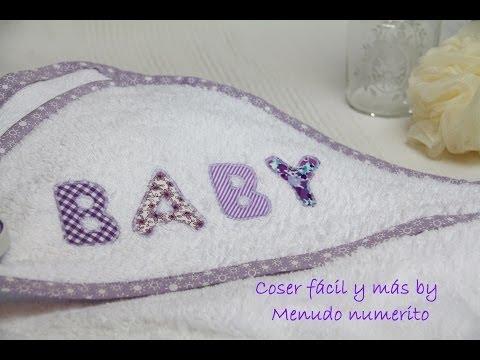 como hacer una capa - Confeccionamos una capa de baño para bebé, un detalle ideal para un baby shower. Puedes personalizarla con su nombre siguiendo este curso gratis https://www....